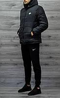 Зимняя мужская куртка Nike черная
