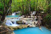 """Фотообои """"Голубой водопад"""" под индивидуальный размер"""