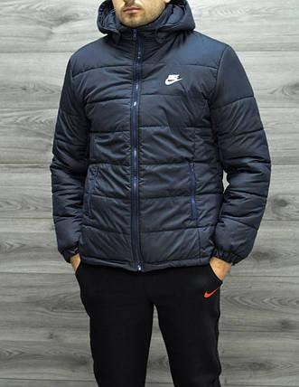 409ea7d8 Зимняя мужская куртка Nike темно-синяя топ реплика: продажа, цена в ...