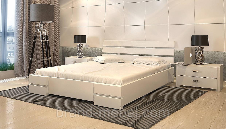 Ліжко дерев'яне двоспальне Далі Люкс / Кровать деревянная двуспальная Дали Люкс
