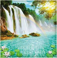 """Фотообои """"Радуга над водопадом"""" под индивидуальный размер"""
