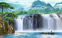 """Фотообои """"Водопад с журавлями"""" под индивидуальный размер"""