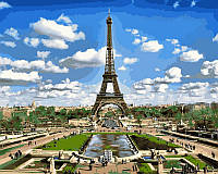 "Картина по номерам ""Эйфелева башня весной"" (VPS515) Турбо 50х65 см"
