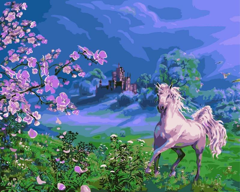 Картины по номерам 40 × 50 см. Розовая лошадь худ. Цыганов, Виктор