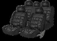 Чехлы на сиденья PSV Magnat качественная экокожа, черные., фото 1
