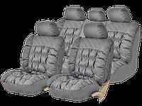 Чехлы на сиденья PSV Magnat качественная экокожа, серые., фото 1