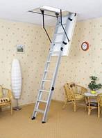 Чердачная лестница Oman ALU PROFI EXTRA 120x70, 120х60 мм