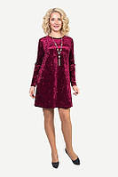 Модное бархатное платье с длинным рукавом