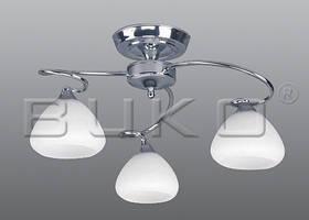 Люстра BUKO 3*Е27 хром+белый D600*H330мм