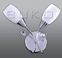Бра BUKO 2*E14 хром+белый