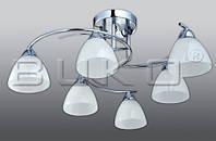 Люстра BUKO 6*Е17 хром+белый D700*H200мм