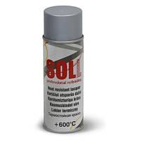 SOLL Термостойкая краска в аэрозоле, серебристый