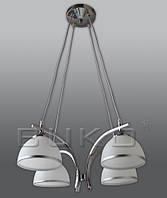 Люстра BUKO 4*E27 хром+белый D490*H800мм