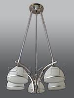Люстра BUKO 5*E27 хром+белый D490*H800мм