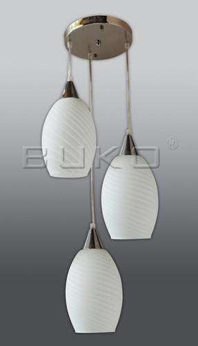 Люстра BUKO 3*E27 хром+белый D350*H1000мм