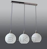 Люстра BUKO 3*E27 хром+белыйПЛАНКА H1000мм