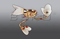 Люстра BUKO 3*Е14 золото+белый D600*H150мм