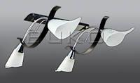 Люстра BUKO 4*Е14 хром+белый L710*W120*H360