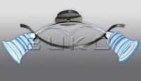 Люстра BUKO 2*Е14 хром+синий L710*W120*H120