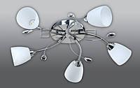 Люстра BUKO LED 5*5W хром+белый D600*150мм