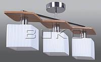 Люстра BUKO 3*Е14 дерево+белый 600*130*260мм