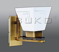 Бра BUKO 1*E27 МАТ.золото+белый 125*185*205мм