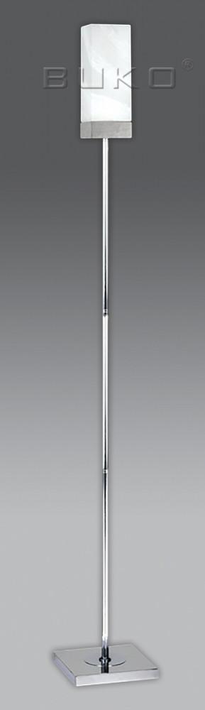 Торшер BUKO 1*Е27 белый(СТЕКЛО)+хром 200*200*H1520мм - ЭЛЕКТРОПАРК в Днепре