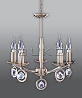 Люстра BUKO 5*Е14 свеча бронза D500*H550мм