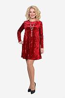 Яркое красное платье из приятного материала