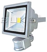 LED прожектор SMD BUKO 10W с датчиком 6400K серый