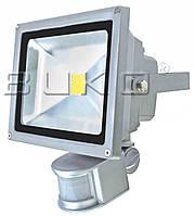 LED прожектор SMD BUKO 20W с датчиком 6400K серый