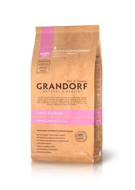 Сухой корм Grandorf Sensitive Care Holistic Lamb&Rice Puppy для щенков с ягненком и рисом, 1 кг