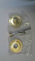 Накладка санузловая A02-BK WC BSG/GP латунь матовая/латунь полированная прямая