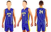 Форма баскетбольная юниорская  NBA LAKERS 24 (фиолетовый, желтый)