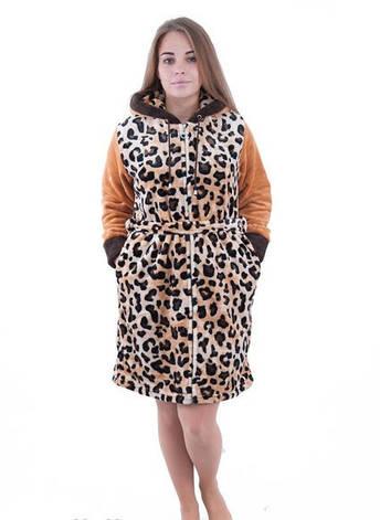 Халат махровый женский Гепард , фото 2