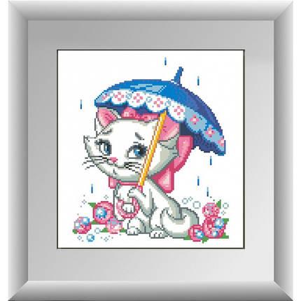 """Набор алмазной живописи """"Кошка под зонтиком"""", фото 2"""