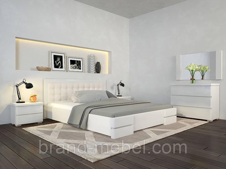 Ліжко дерев'яне двоспальне Регіна Люкс / Кровать деревянная двуспальная Регина Люкс