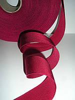 Репсовая лента итальянская натуральная, 25 мм ширина, цвет малиновый, фото 1