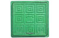 Люк квадратный смотровой 300/300мм (зеленый)
