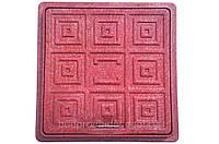 Люк квадратный смотровой 300/300мм (красный)
