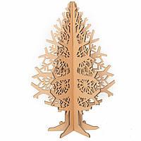 Ёлка Снежинка из картона 70 см, Cartonator