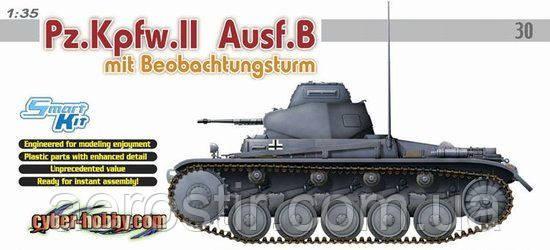 Pz.Kpfw.II Ausf.B mit Beobachtongsturm 1/35 DRAGON 6295