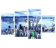 """4-х Модульные картины на холсте """"Гонконг"""""""