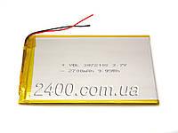 Аккумулятор 2700мАч 3072108 мм 3,7в универсальный для планшета 3.7v 3*70*108 (2700mAh)