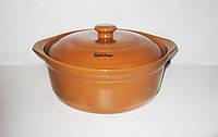Термостойкая керамическая кастрюля Sacher 4,2 л коричневая