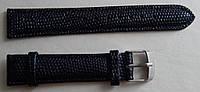 Ремешок кожаный NAGATA (ИСПАНИЯ) 18 мм, черный-змей