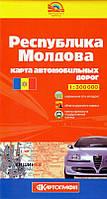 Карта автомобильных дорог Молдовы