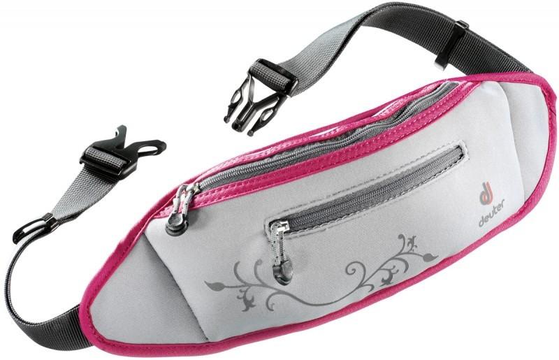 Серая поясная сумка  Neo belt II  Deuter 4505 silver-magenta