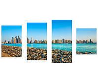 "Фотокартины на холсте ""Море и город"""