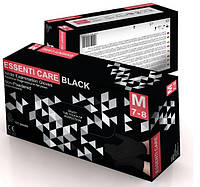 Нитриловые перчатки плотные Черные
